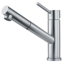 Кухонный смеситель FRANKE - Orbit нерж сталь с выдвижным шлангом (115.0569.461)